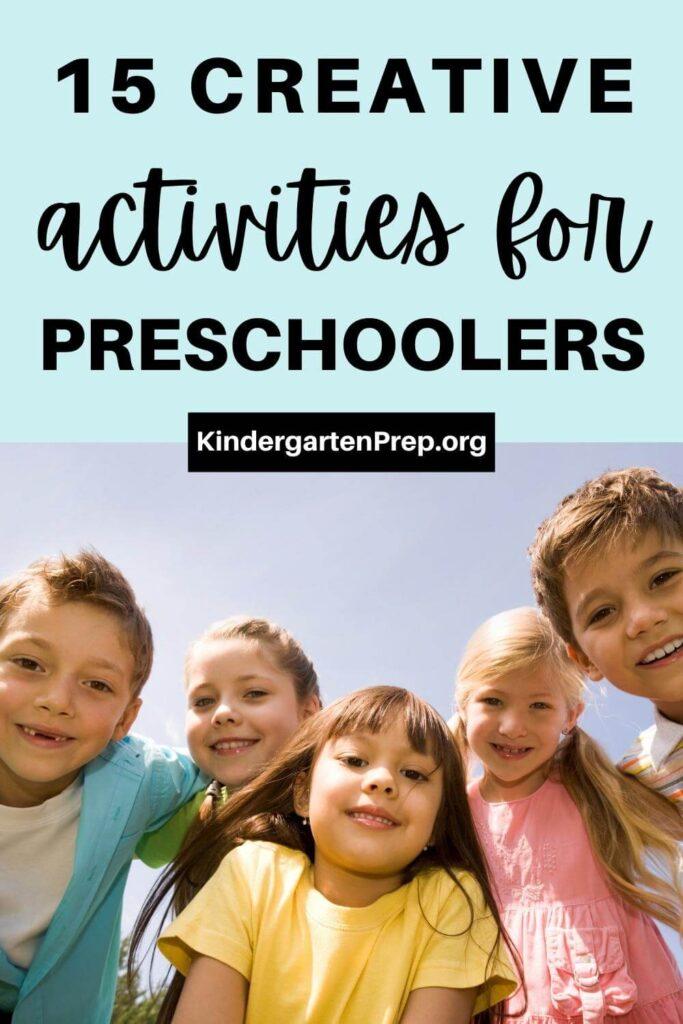 creative activities for preschoolers / children smiling