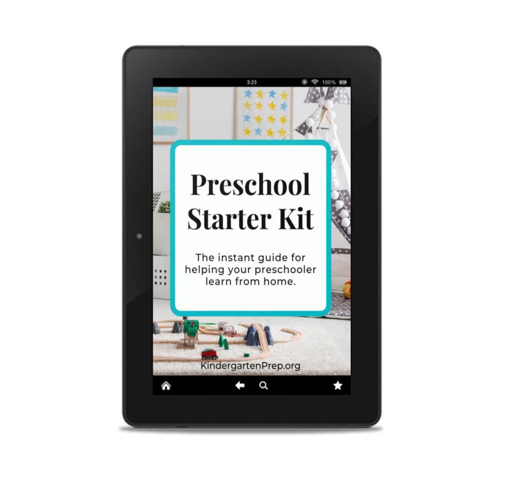 free preschool starter kit mockup